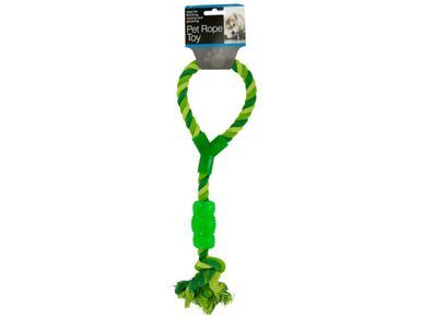 Pet Rope Toy with Handle & Chew Toy