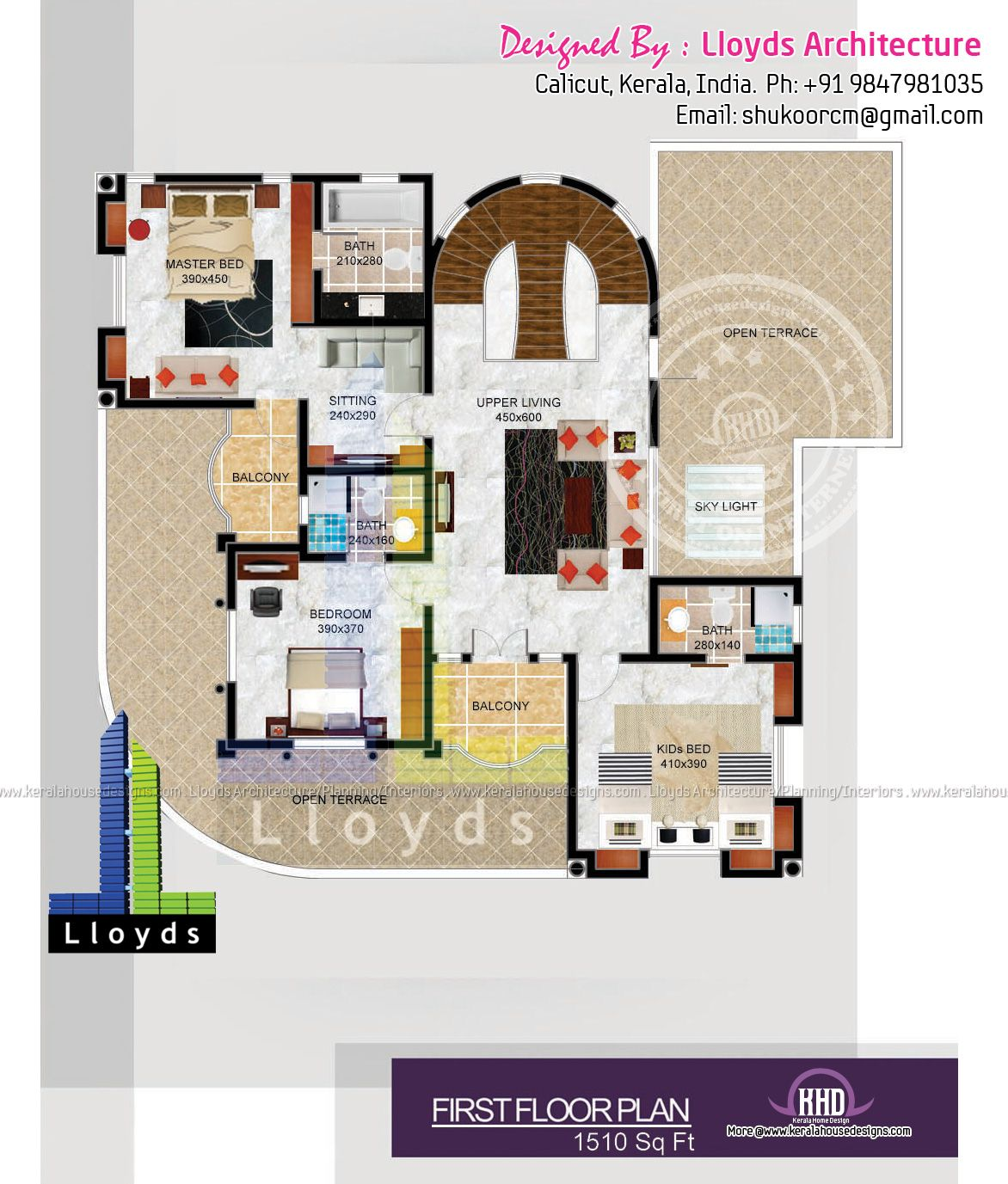 5 Bedroom Luxurious Bungalow Floor Plan And 3d View Best Home