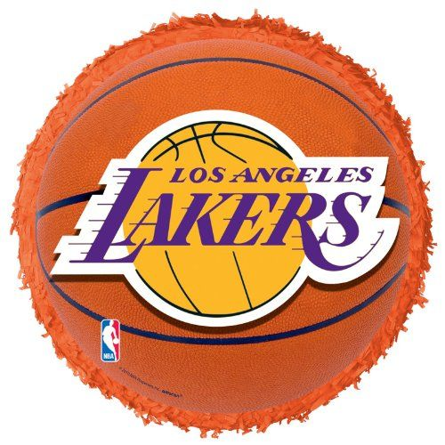 L A Lakers Basketball Pinata Party Accessory 9 99 Los Angeles Lakers Lakers Basketball Lakers