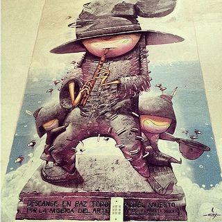 Una foto que me encontré por acá de hace unos tres años #cix  Descanse en paz todo aquel muerto por la miseria del arte by cix.mugre