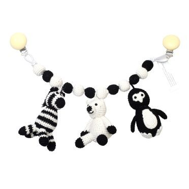 Kinderwagenkette - Pinguin, Eisbär & Zebra von natureZOO kaufen