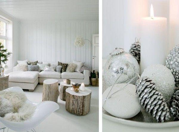 Winter Deko Ideen-Wohnzimmer | Skandinavischer ...
