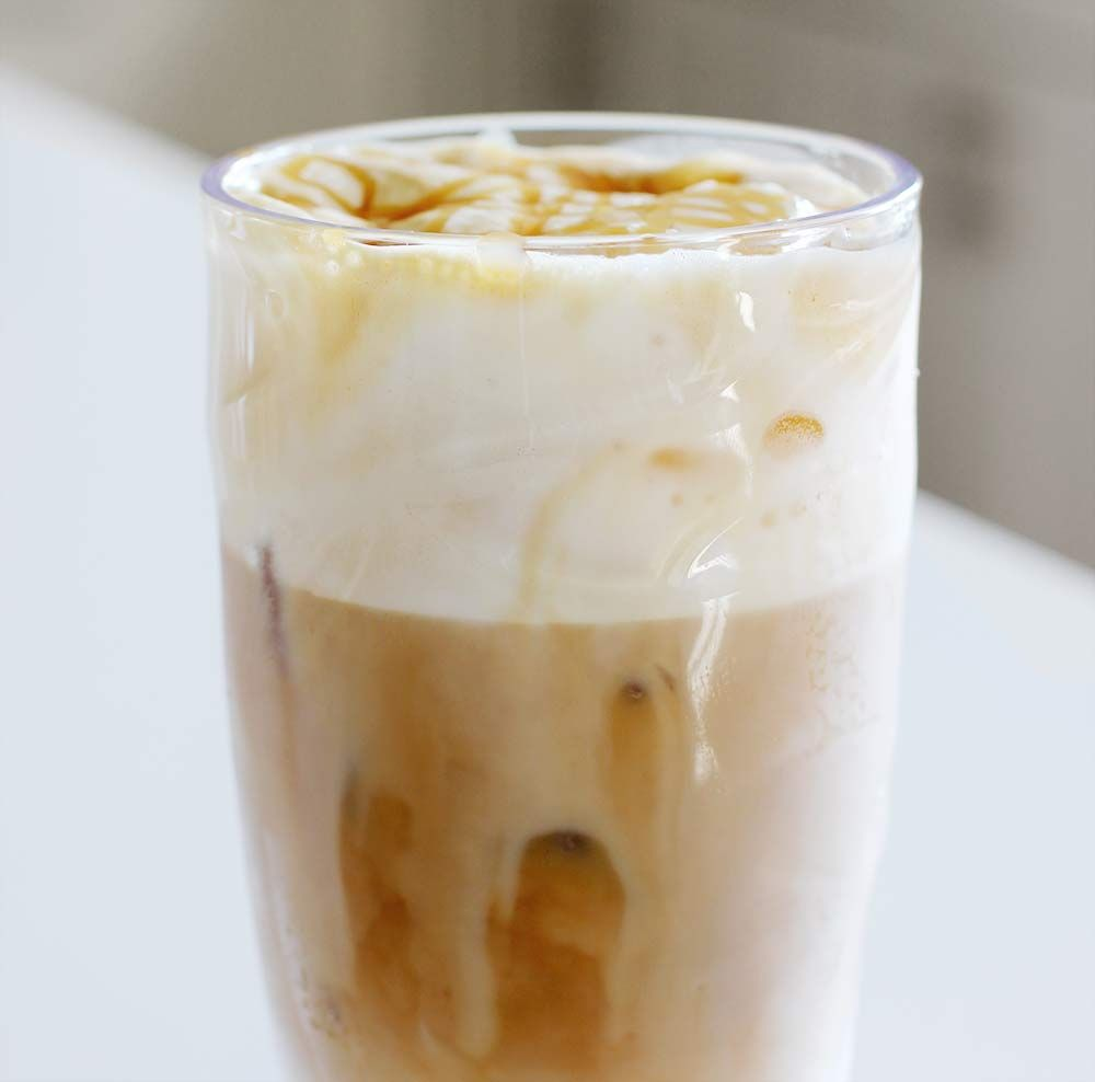 How To Make An Iced Caramel Macchiato With Cold Foam Latte Coffee Recipes Cold Coffee Recipes Coffee Recipes Caramel Macchiato