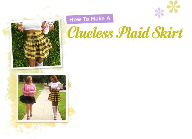 DIY: Clueless Inspired Plaid Skirt   FashionClub.com