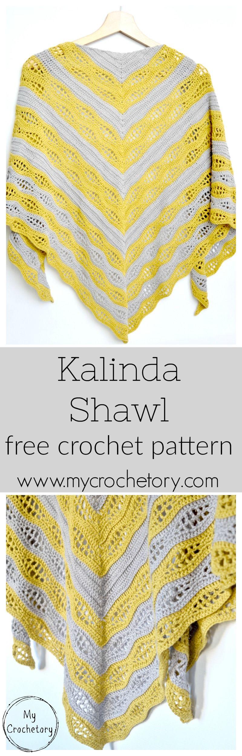 Kalinda Shawl - free crochet pattern by | Pinterest | Stricken ...