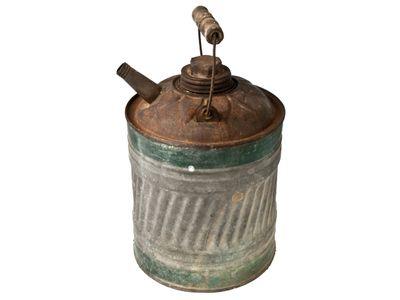 Vintage Galvanized Kerosene Or Gas Can