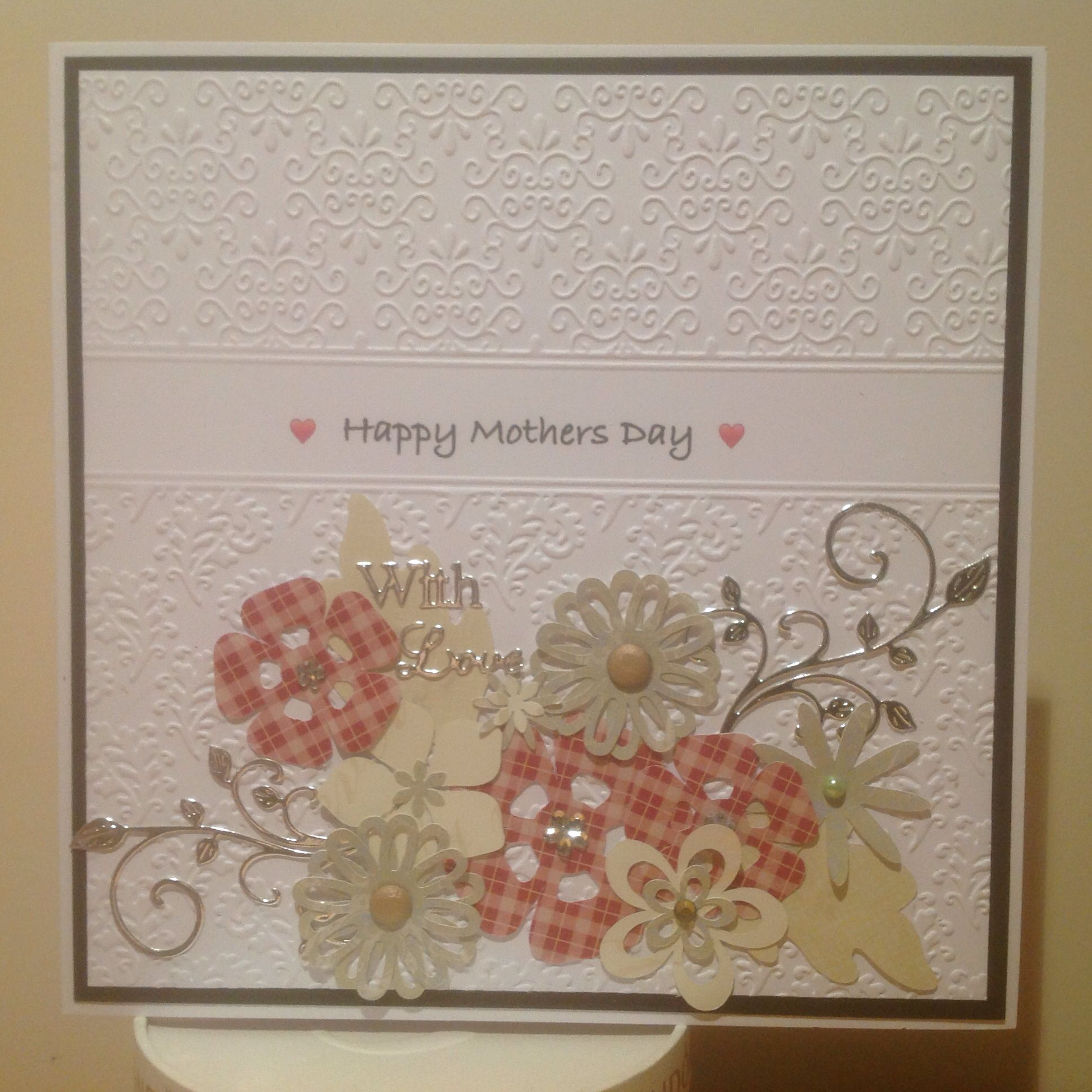 Mothers day card using mothers day bouquet cricut cartridge