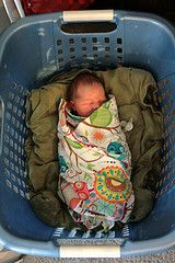 a year with the laundry and the baby