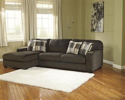 Westen - Chocolate Contemporary Wood Fabric Living Room Set
