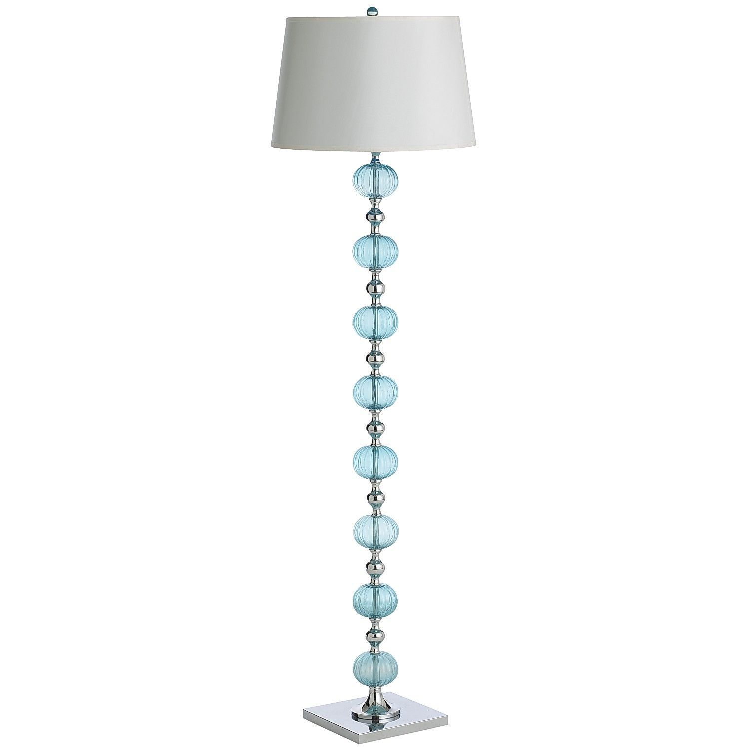 Pier 1 Floor Lamps Magnificent Aqua Glass Floor Lamp  Pier1 Us  Furnish  Pinterest  Aqua Glass Inspiration Design