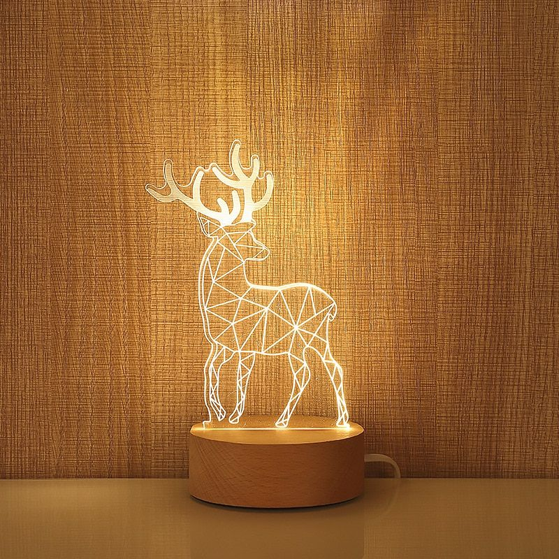 3d Illuminated Lively Animal Spirit Night Led Model Lamp Diy Decor Diy Table Lamp Rustic Home Decor Cheap