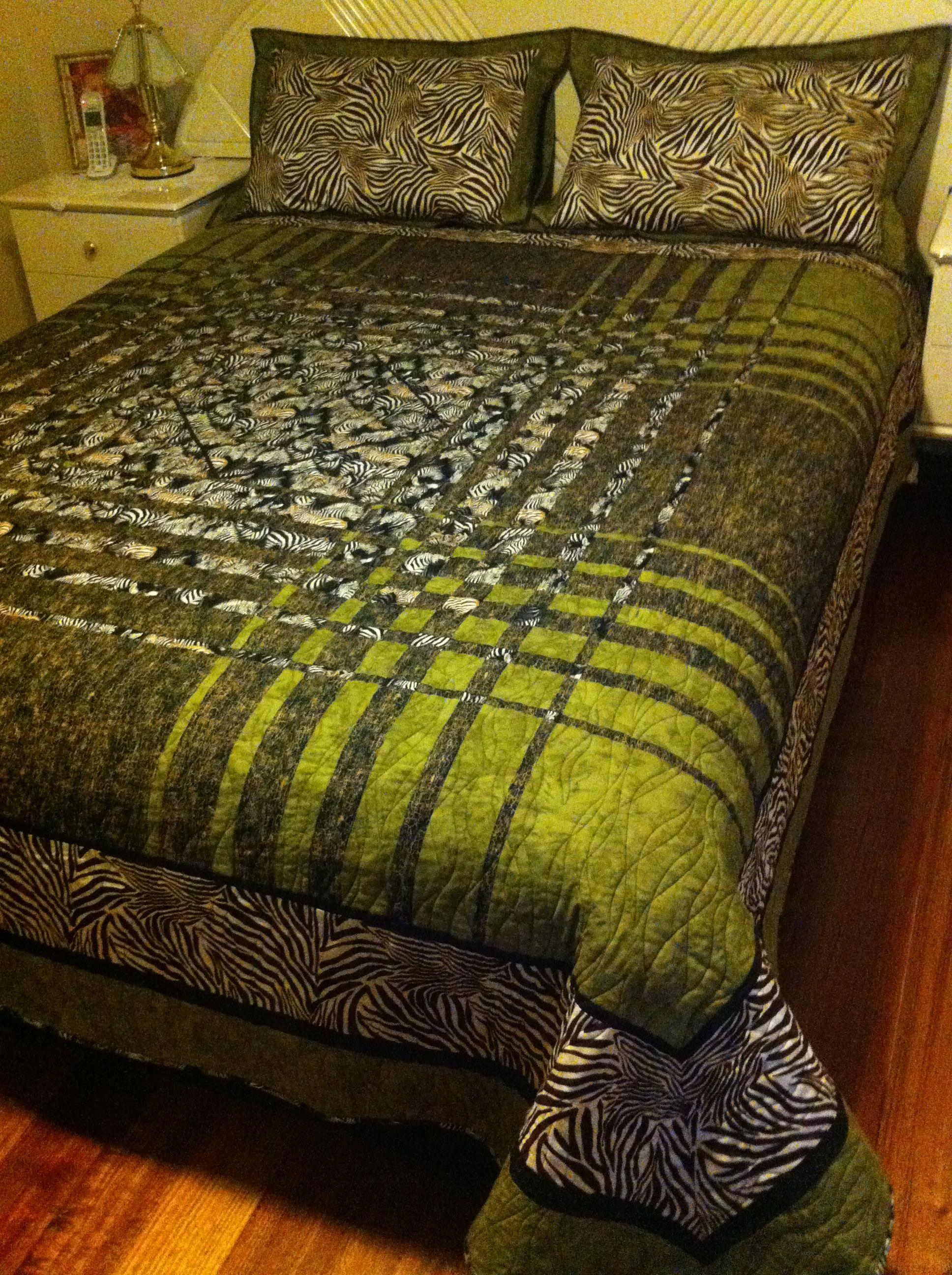 top of Zebra Convergance quilt