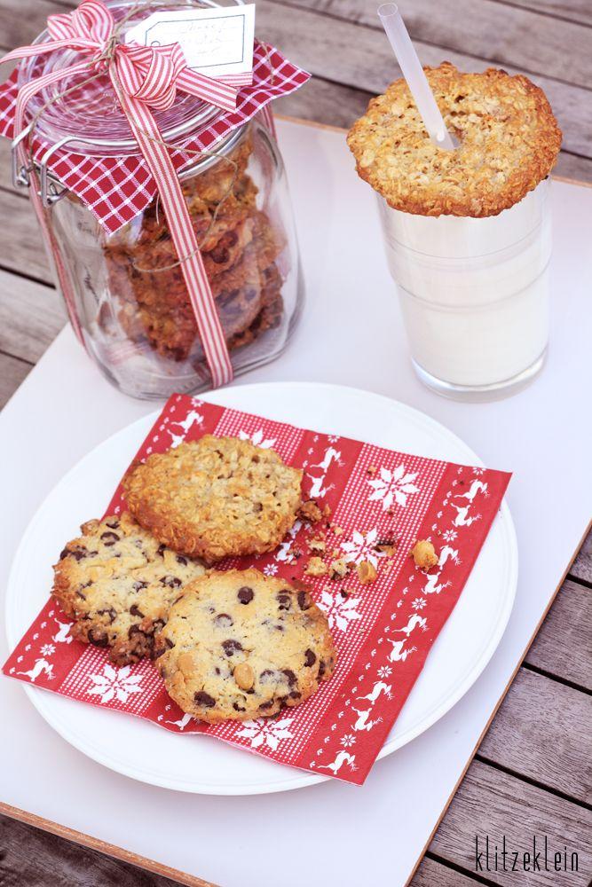 Chocolate & peanut cookies