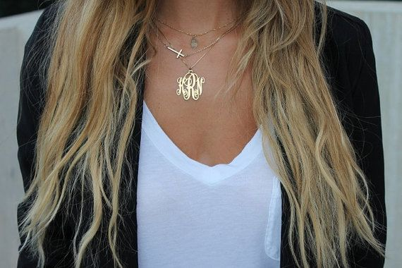 Personalized Monogram 24K plated over sterling by ArmCandyFashion