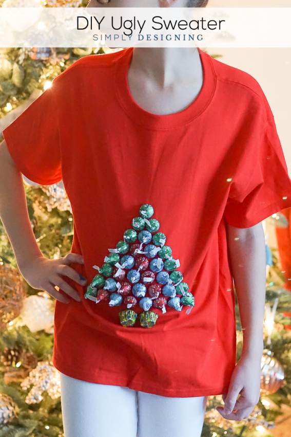 DIY Ugly Sweater with Hershey\'s Kisses | SimplyDesigning.net ...