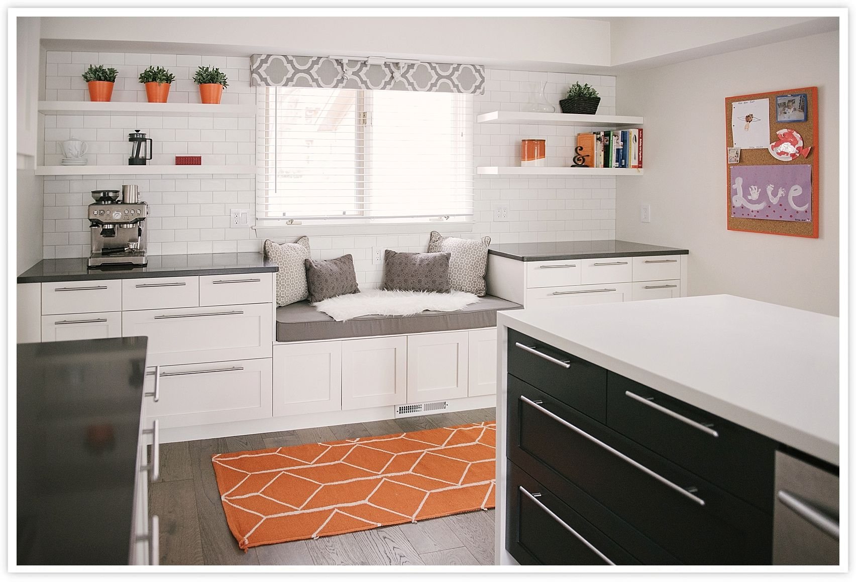 After: Clean White Modern Black And White IKEA Kitchen With Semihandmade  Cabinet Faces, CB2