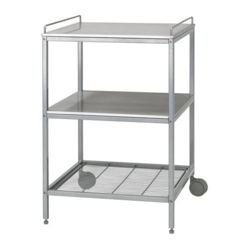 Udden Kitchen Trolley Silver Colour Stainless Steel Ikea