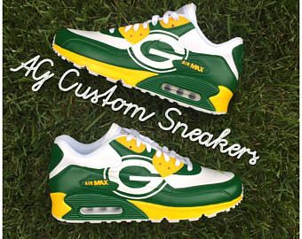 wholesale dealer 6e2f0 a8169 Custom Green Bay Packers Air Max 90 Sneaker