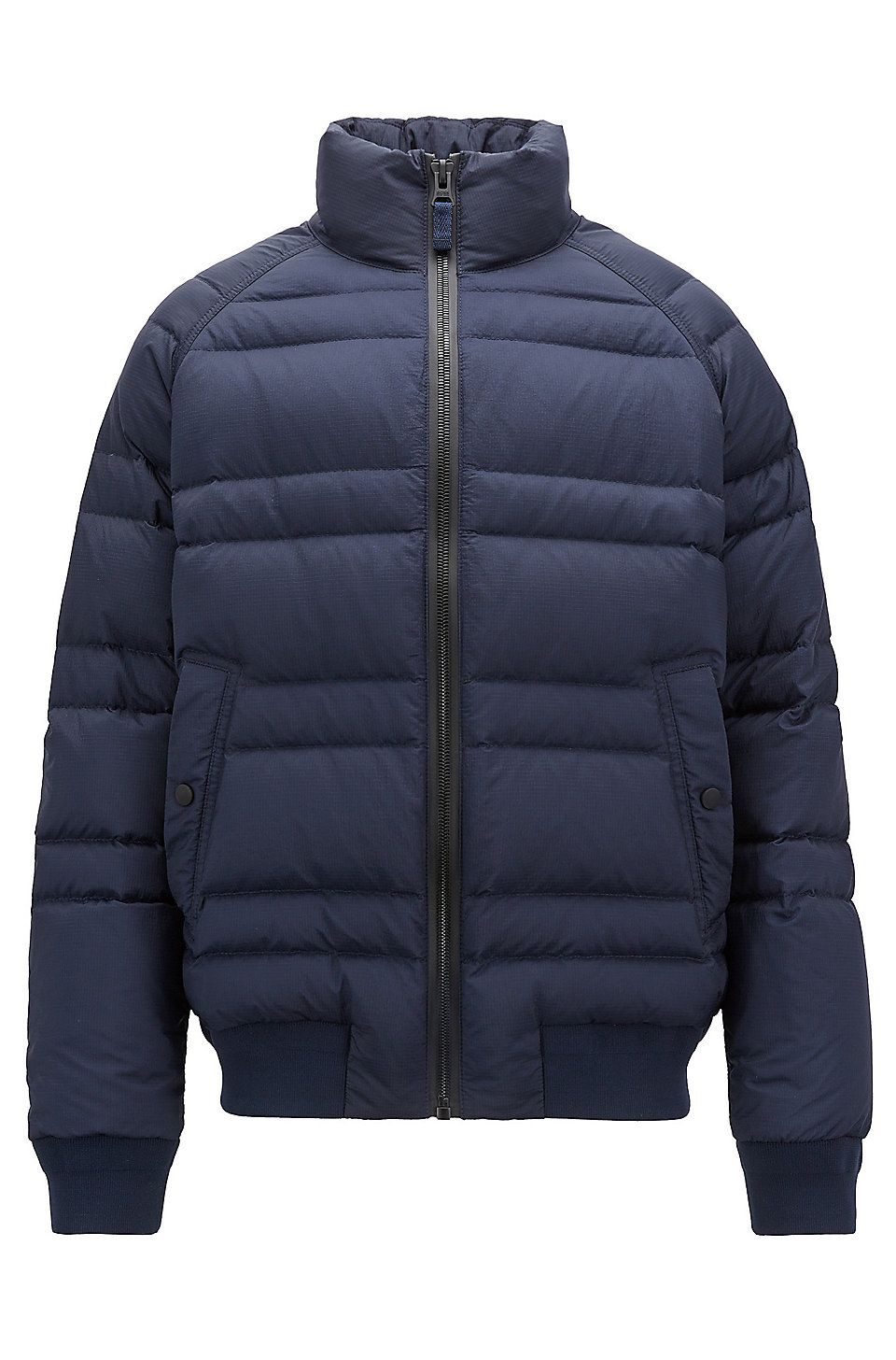 Hugo Boss Down Jacket In Water Repellent Ripstop Fabric Dark Blue Down Jackets From Boss For Men In The Official Hugo Boss Ripstop Fabric Jackets Down Jacket [ 1456 x 960 Pixel ]