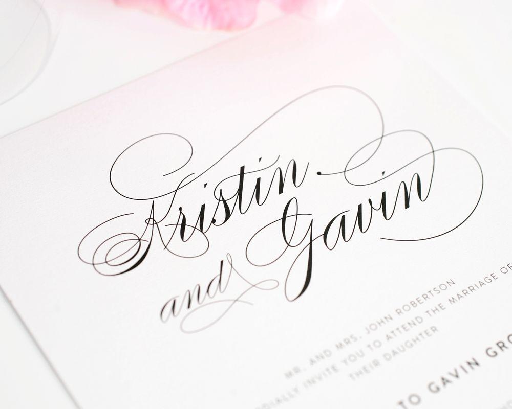 Top 10 Wedding Invitations with Script   Weddings, Modern ...