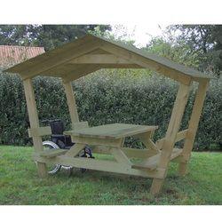 Table pique-nique avec toit Castor. Table avec toit 2 pentes pour ...