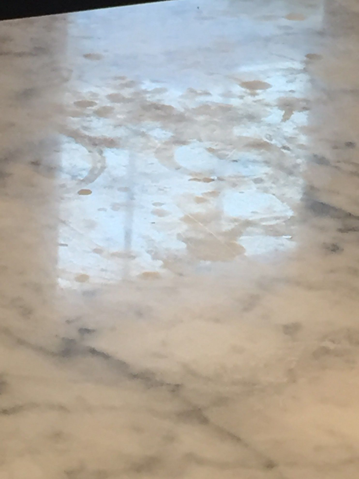 How to get rid of marks on marble  Cleaning marble countertops