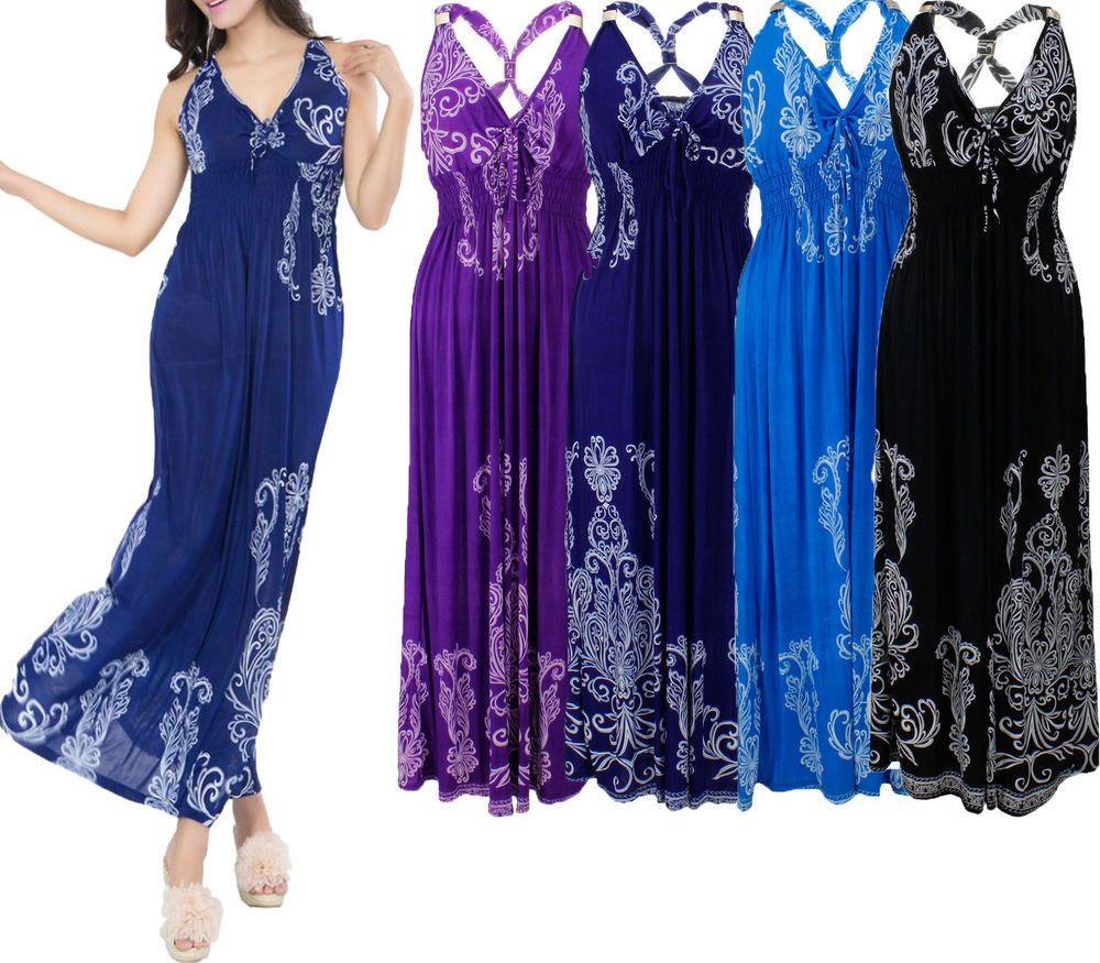 Women S Plus Size 2x 3x 4x Maxi Casual Sundress Party Hawaiian Long Summer Dress Long Summer Dresses Summer Dresses Dresses [ 875 x 1000 Pixel ]