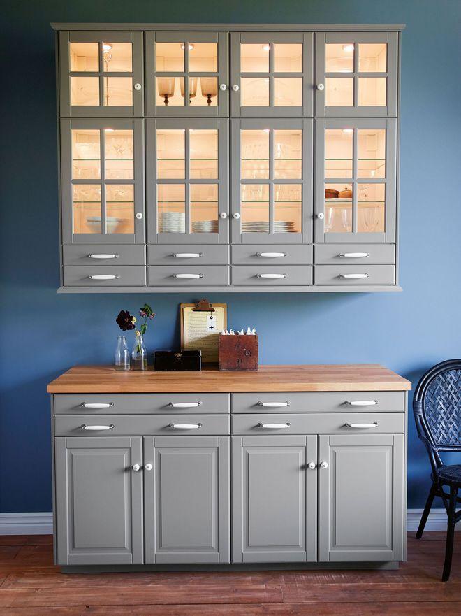 Un meuble façon buffet pour une cuisine Bodbyn d\'Ikea | Beautiful ...