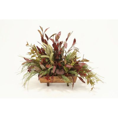 Distinctive Designs Fall Toned Hydrangea and Rose Mix in Hampton Urn | Wayfair