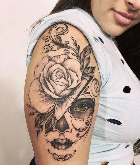 Tatuagem De Caveira Mexicana 70 Fotos Dessa Refer 234 Ncia border=
