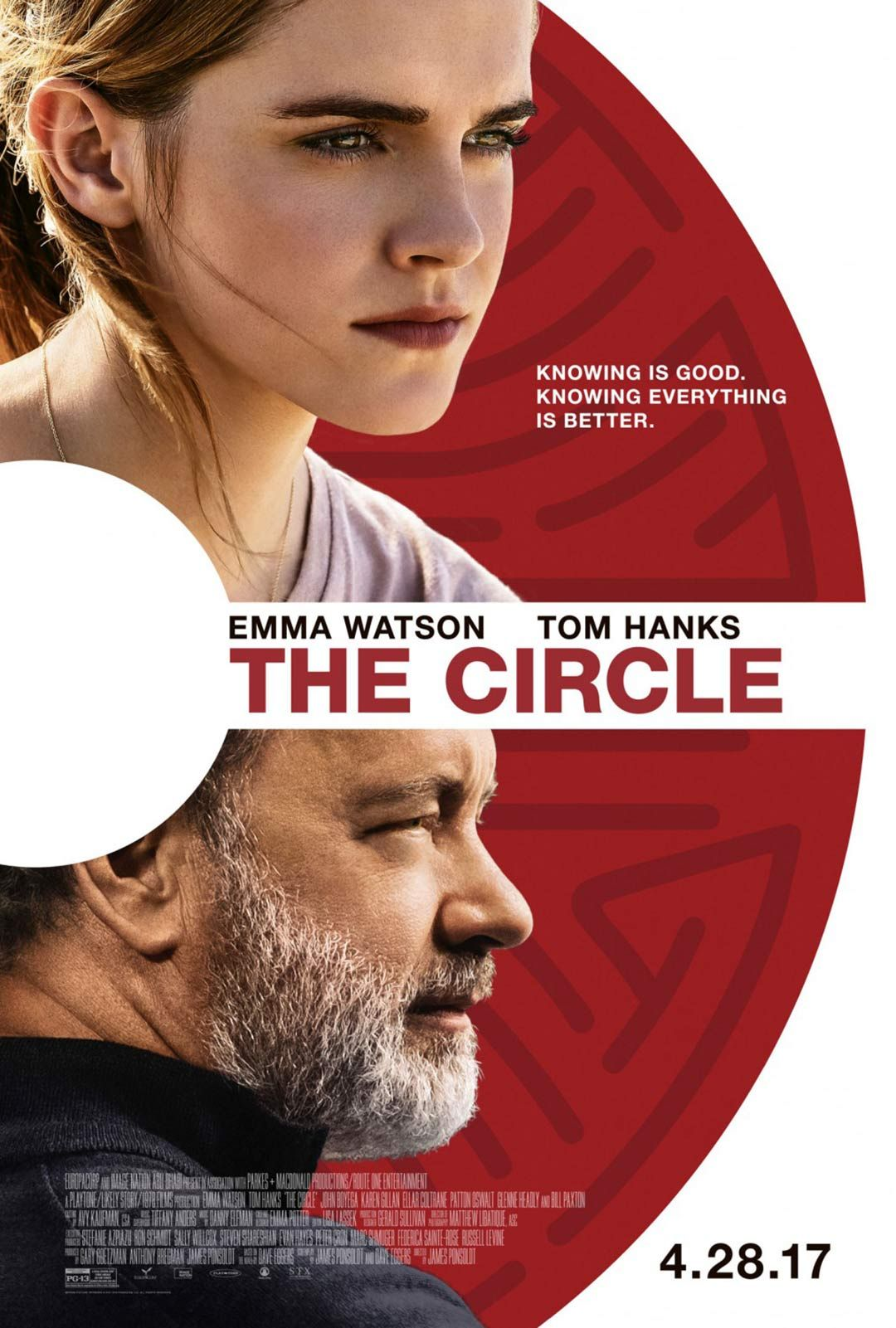 The Circle (2017) Poster Circle movie, Hd movies online