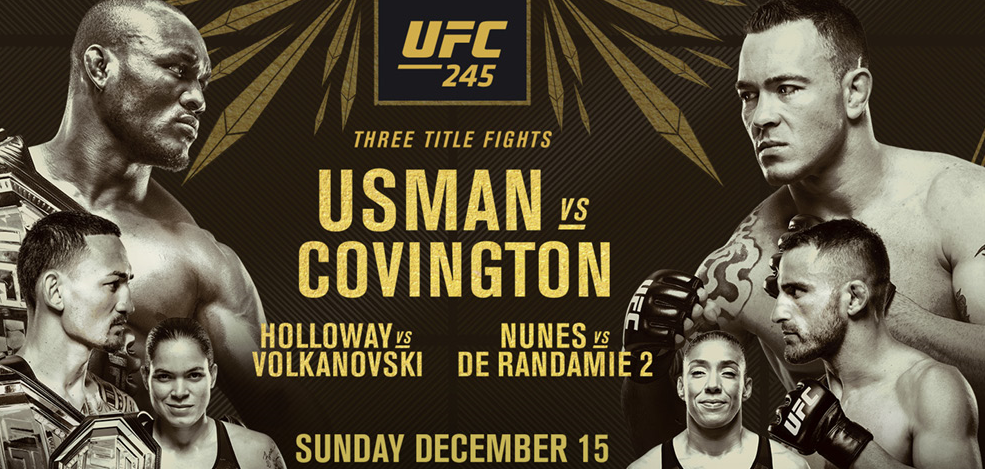 UFC 245 Live Stream Usman vs. Covington (With images