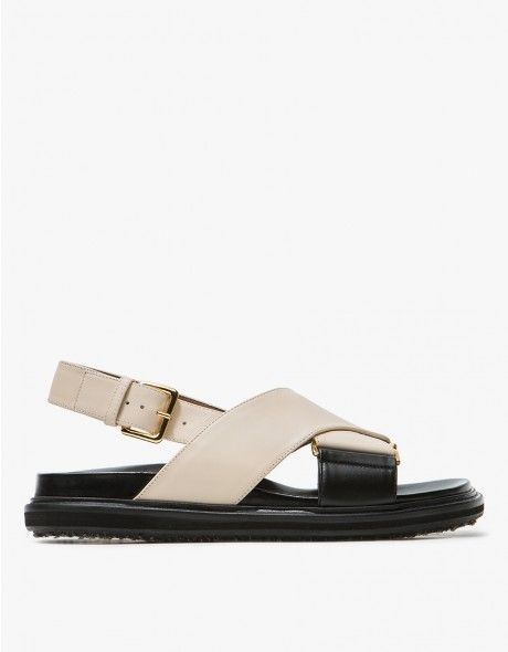 7268173fef5f Marni   Fussbett Sandal in Alabaster