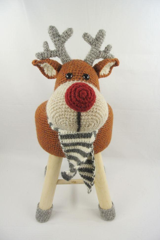 Dieren Kruk Haken Rendier Haakpret Ideer Pinterest Crochet