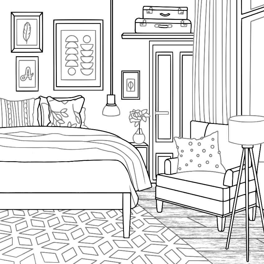 Pin By Sue Ann On Color Therapy Room Before After House Colouring Pages Horse Coloring Pages Cute Coloring Pages