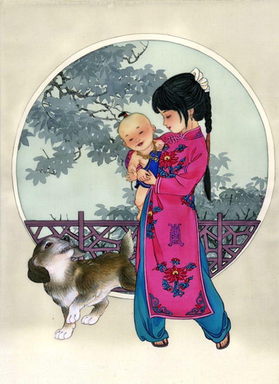 Японские и китайские открытки