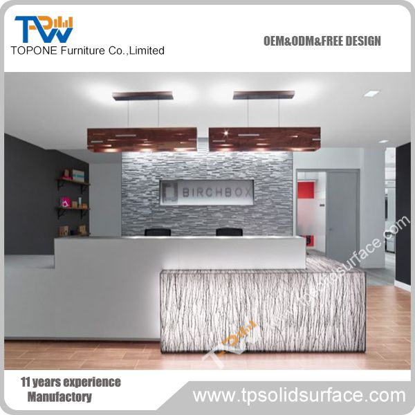 Factory Price High Quality Modern Office Reception Counter Design