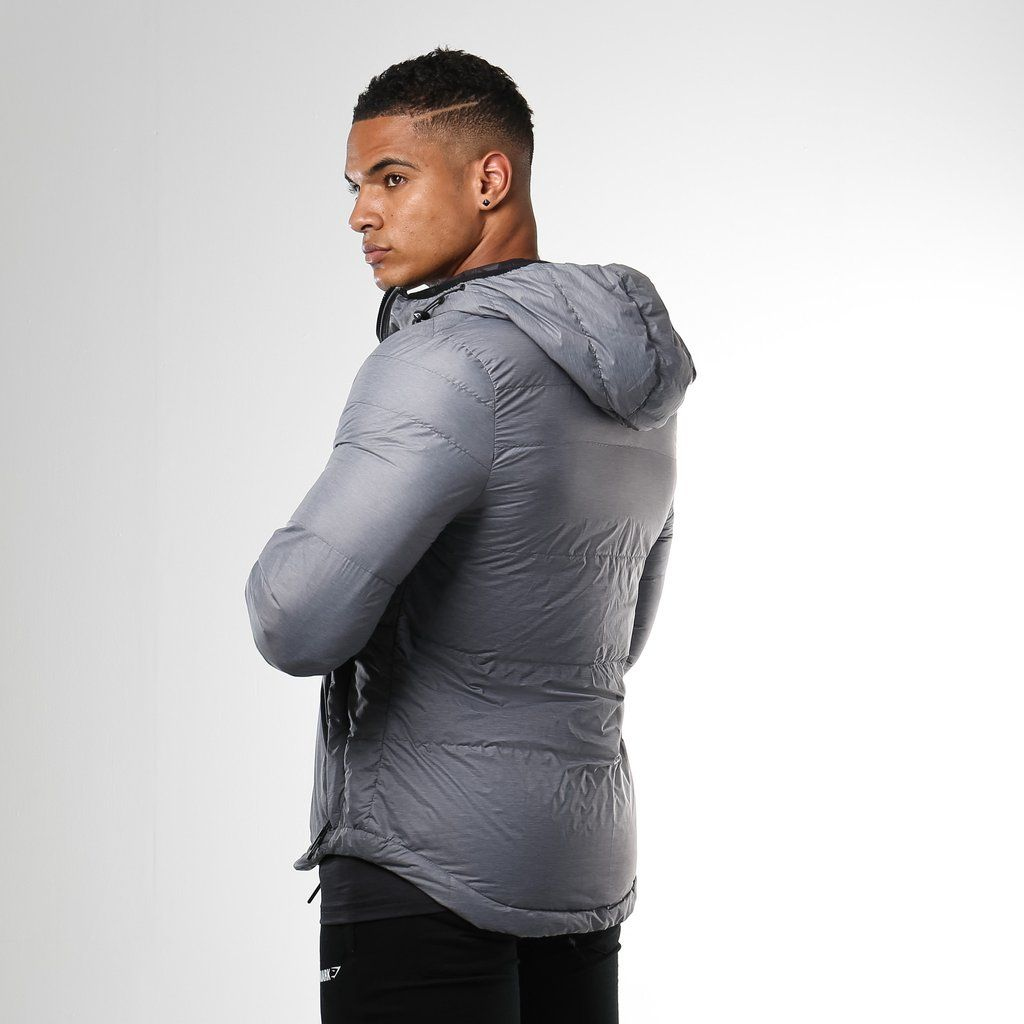 Gymshark Fitted Sector Puffer Jacket Charcoal Gymshark Clothes Workout Clothes [ 1024 x 1024 Pixel ]