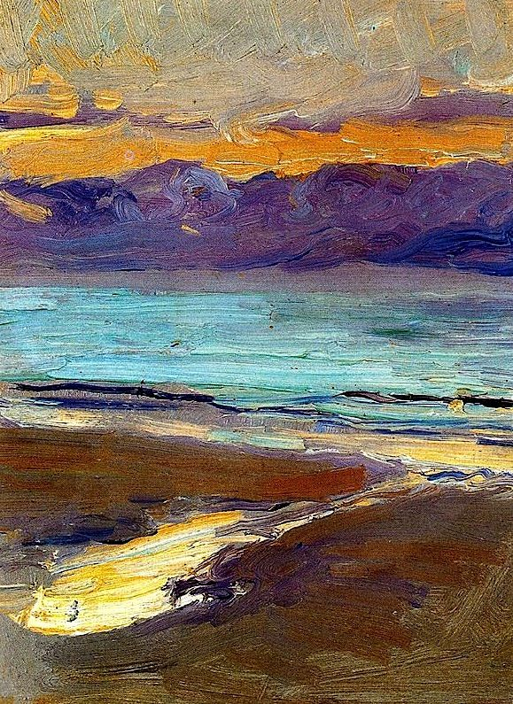 Seashore, 1906 / Joaquín Sorolla y Bastida was a Valencian Spanish painter. Sorolla excelled in the painting of portraits, landscapes, and monumental works of social and historical themes