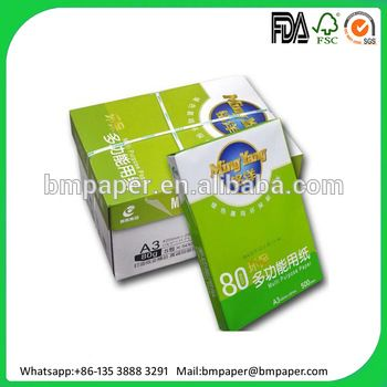 80GSM Double A A4 Size Copy Paper from Thailand | Bmpaper