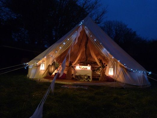 Great discounts on wedding bell tent and Giant Kata tipi hire from Cariad Canvas & Great discounts on wedding bell tent and Giant Kata tipi hire from ...