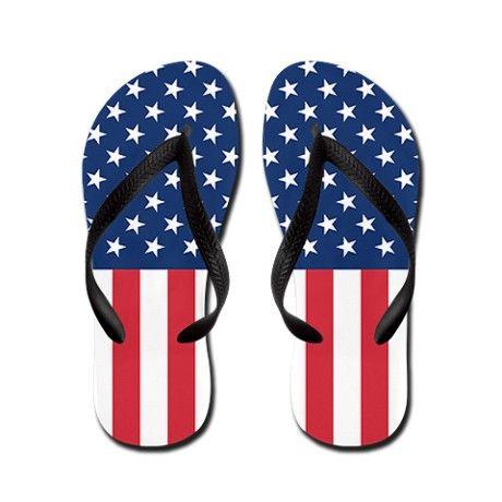 9125def49c94 Patriotic US Flag Flip Flops  cafepress  flipflops