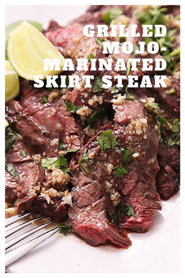 Grilled Skirt Steak With Mojo Marinade