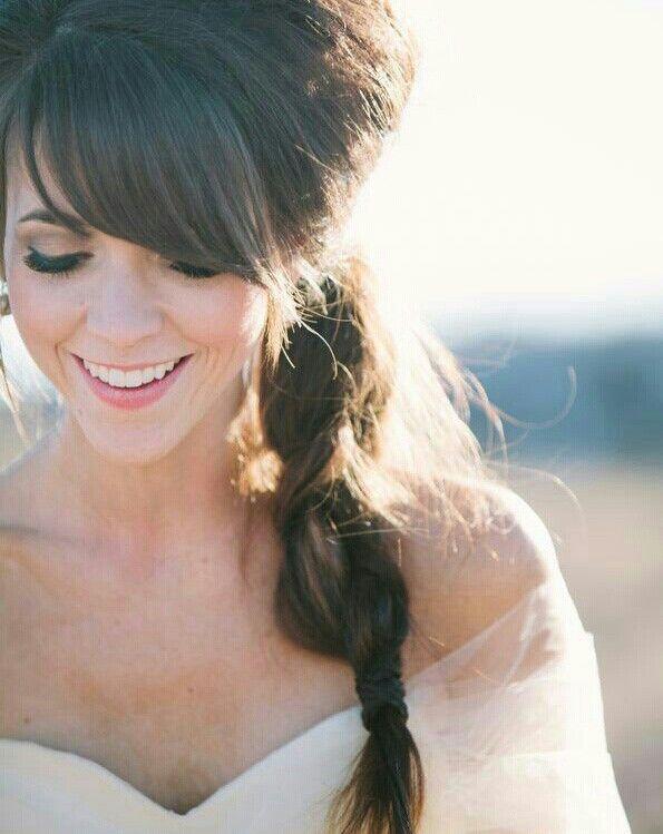 Her bangs <3 | Bridesmaid hair makeup | Pinterest | Bangs, Hair ...