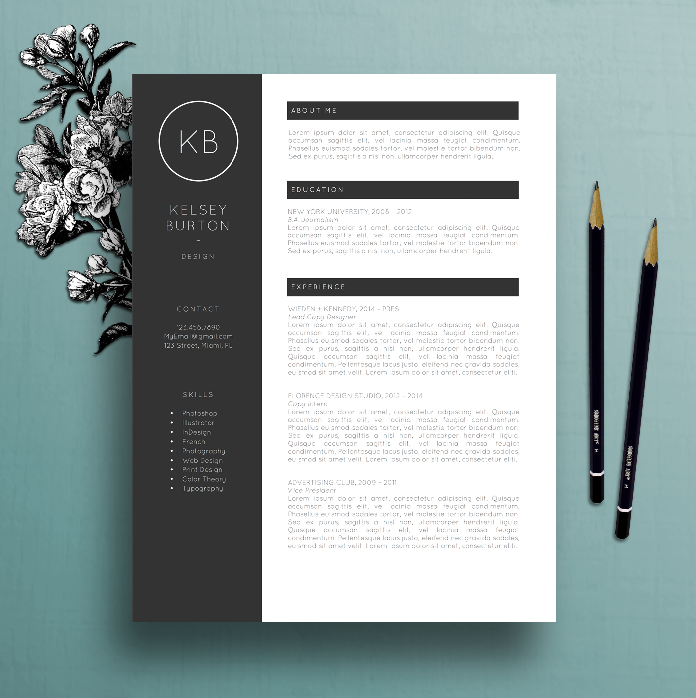 Professional resume template cover letter template references ms professional resume template cover letter template references ms word mac pc spiritdancerdesigns Images