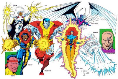 X Men Gold Team Early 90 S X Men Xmen Art Comic Book Artwork
