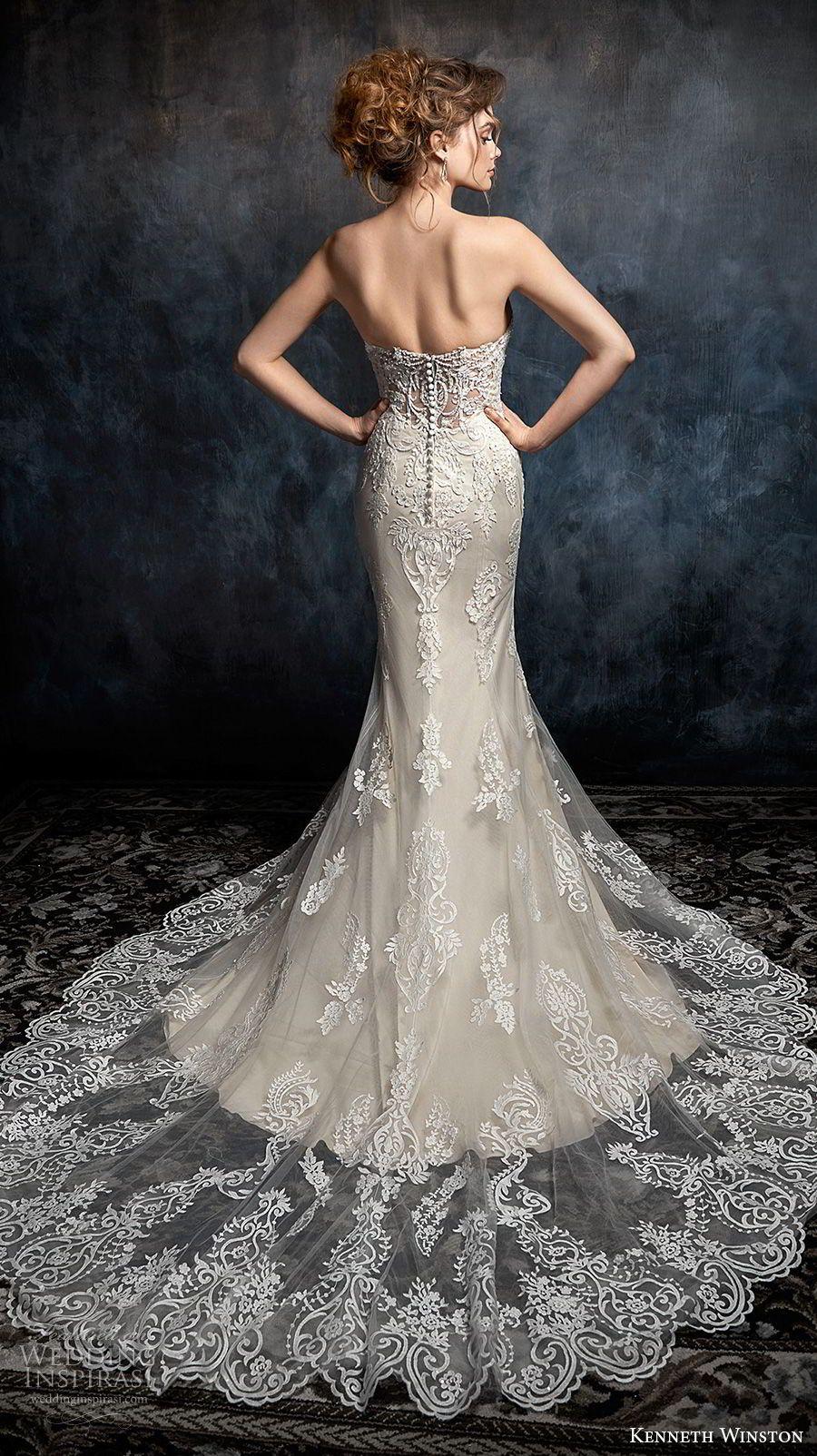 kenneth winston fall 2017 bridal sleeveless thin strap