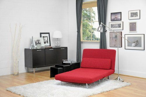 Anise Red Convertible Chair Bed