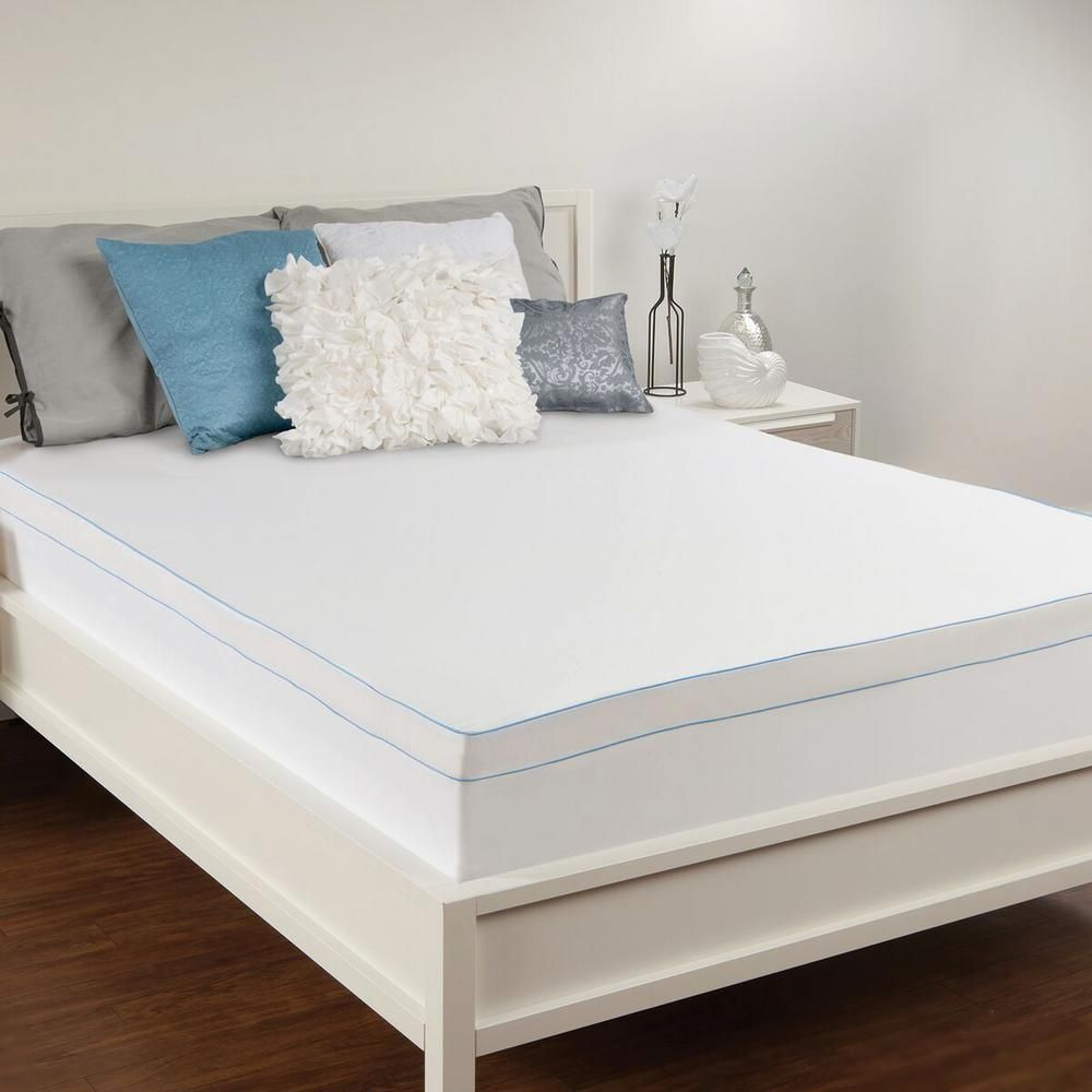 Sealy 3 In Queen Memory Foam Mattress Topper White Products