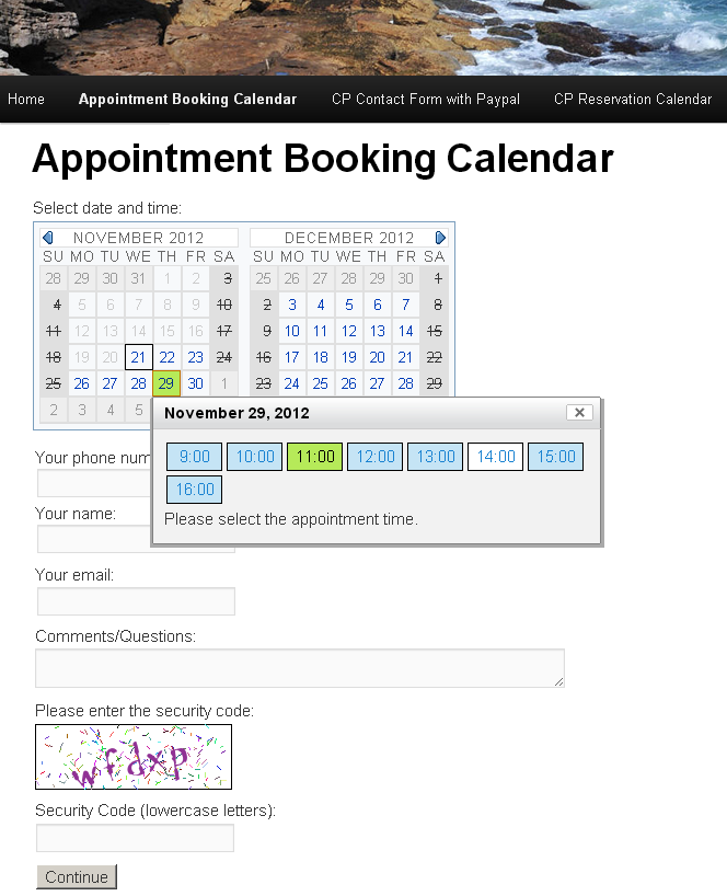 Appointment Booking Calendar  Wordpress Plugin Rservations